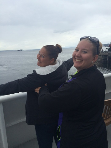 mom and I re-creating the Titanic pose