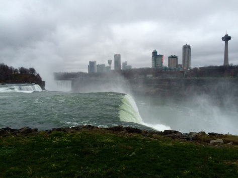 Looking over the American Falls to Canada